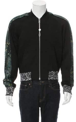 Maison Margiela Floral Print-Trimmed Lightweight Jacket