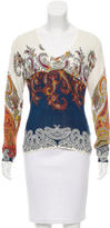 Etro Silk Paisley Print Top