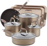 Anolon Advanced Bronze Nonstick 9-pc Cookware Set w/ 2-pc Bakeware Bonus