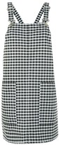 Topshop PETITE Gingham Pinafore Dress
