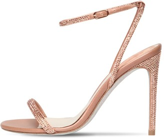 Rene Caovilla 105mm Embellished Leather & Satin Sandal