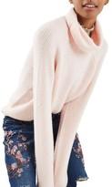 Topshop Women's Oversize Turtleneck Sweater