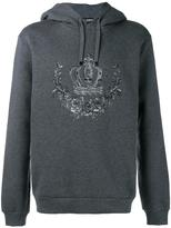 Dolce & Gabbana embroidered crown hoodie - men - Cotton/Polyester - 54