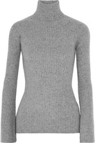 Autumn Cashmere Ribbed Cashmere Turtleneck Sweater
