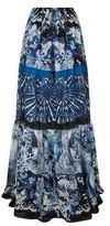 Roberto Cavalli Printed Silk Maxi Skirt