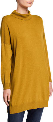 Eileen Fisher Plus Size Lightweight Cozy Turtleneck Tunic