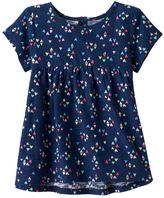 Baby Girl Jumping Beans® Print Slubbed Swing Top