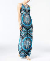 INC International Concepts Beaded Medallion-Print Maxi Dress, Created for Macy's