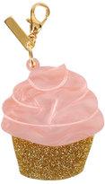 Edie Parker Glittered Cupcake Bag Charm, Pink