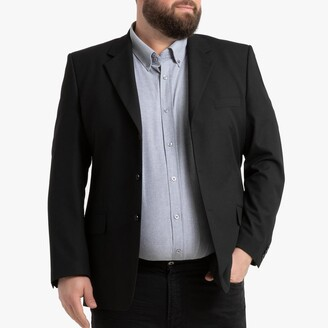 La Redoute Collections Plus Long Straight Cut Suit Jacket with Single-Breasted Buttons