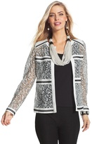 Chico's Two-Toned Lace Jacket