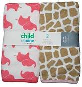 Carter's Child of Mine Baby Girls 2pk Bath Towels, Pink by