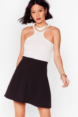 Nasty Gal Womens Balls In Your Court Pleated Mini Skirt - Black