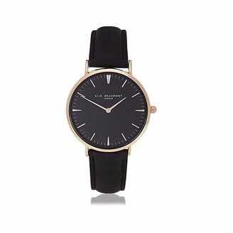 Elie Beaumont Oxford Small Black Nappa Leather Black Dial