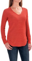 Lilla P Slub Tape Yarn V-Neck Sweater (For Women)