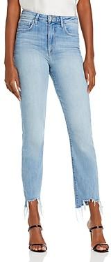 L'Agence Harlem High Rise Raw Hem Skinny Jeans in Tahoe