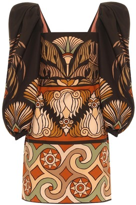 Johanna Ortiz Deluge printed cotton minidress