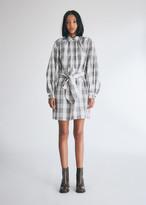 Baum und Pferdgarten Women's Auberee Check Dress in Cream/Navy/Brown Check, Size 34 | 100% Cotton