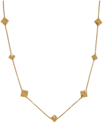 Mulberry Pyramid Chain Necklace Gold Brass