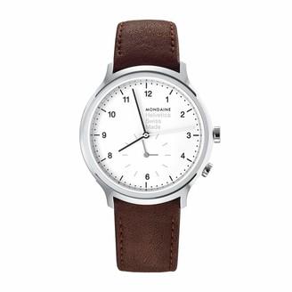 Mondaine Men's MH1.R2010.LG Helvetica Analog Display Swiss Quartz Brown Watch