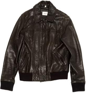 Wrangler Black Leather Jackets