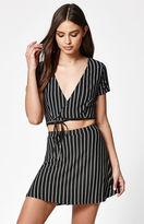 Lisakai Stripe Woven Mini Skirt