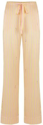 Sleepy Wilson Poppy Silk Pyjama Trouser In Lemonade