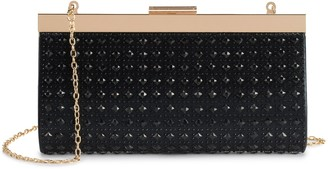 La Regale Lenore By Lenore by Diamond Pattern Frame Clutch