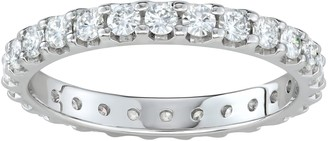 Charles & Colvard 14k Gold 1 Carat T.W. Lab-Created Moissanite Eternity Band