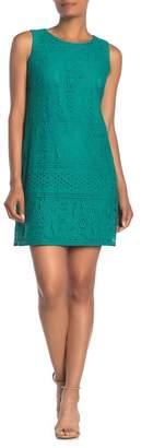 Eliza J Sleeveless Lace Shift Dress