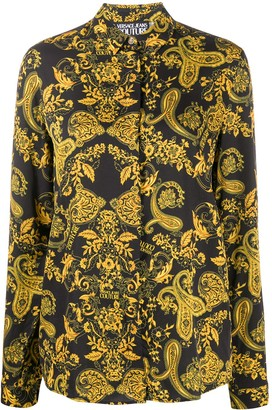 Versace Jeans Couture Paisley-Print Long-Sleeved Shirt