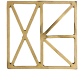 John Lewis Cut Out Coaster, Gold