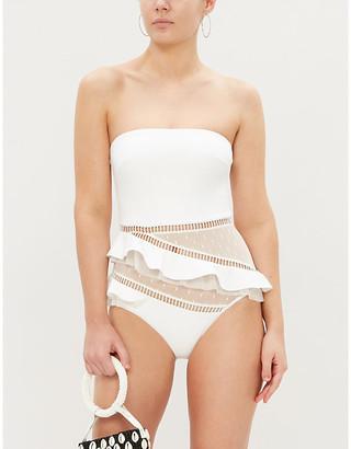 Zimmermann Allia mesh-panel swimsuit