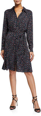 Diane von Furstenberg Dory Printed Shirt Dress w/ Belt