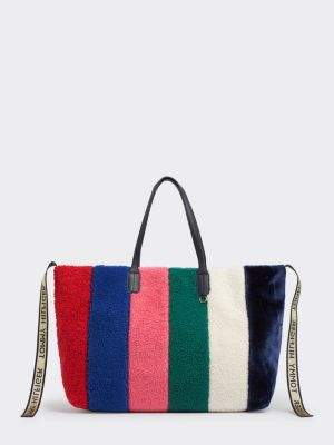 Tommy Hilfiger Tommy Icon Faux Fur Tote Bag