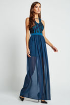 BCBGeneration Lace Bodice Maxi Dress - Stormy Sea