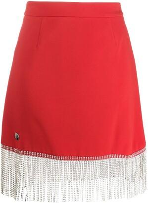 Philipp Plein Embellished Tassel Skirt