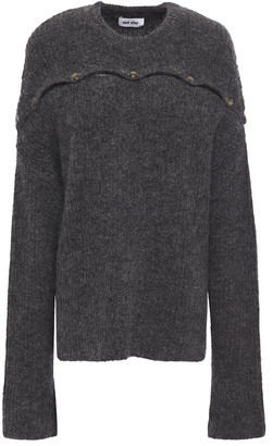 Each X Other Button-detailed Melange Wool-blend Sweater