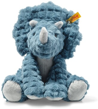 "Steiff Soft Cuddly Friends Dixi Triceratops, 11"""