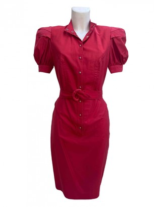 Thierry Mugler Red Cotton Dresses