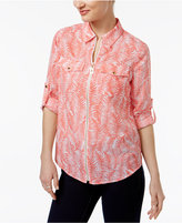MICHAEL Michael Kors Zippered Printed Blouse