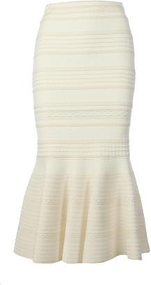 Alexander McQueen Skirt Midi Knit