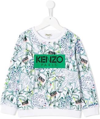 Kenzo Kids Jake jungle print sweatshirt