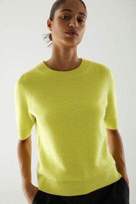 Cos Cashmere Puff Sleeve Knitted Top