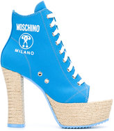Moschino sneaker-style boots - women - Cotton/Leather/rubber - 37