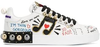 Dolce & Gabbana Portofino applique sneakers