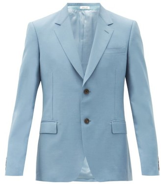 Alexander McQueen Single-breasted Wool-blend Jacket - Light Blue