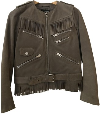 The Kooples Grey Suede Leather jackets