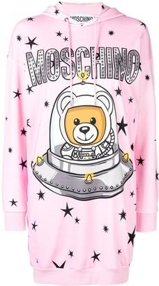 Moschino Space Teddie hoodie dress