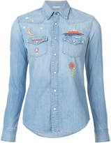 Mother embroidered denim shirt